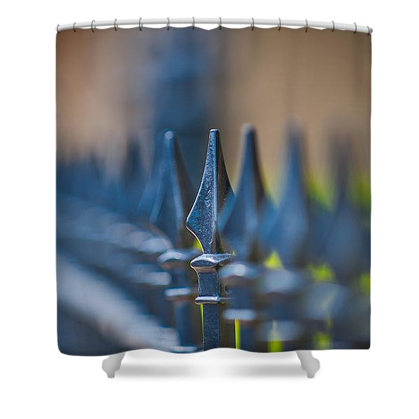 Shower Curtain featuring the photograph Spiked by Tom Gresham
