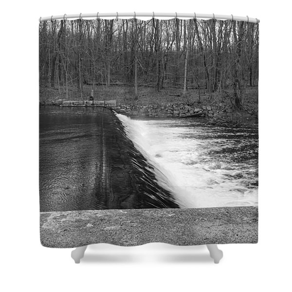 Spillway At Waterloo Village Shower Curtain