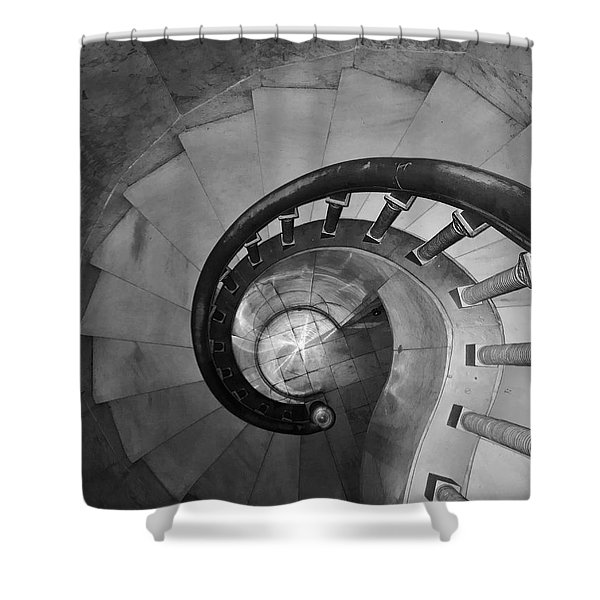 Spiral Staircase, Lakewood  Cemetary Chapel Shower Curtain
