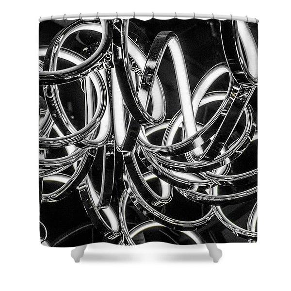 Spirals Of Light Shower Curtain