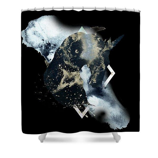 Shower Curtain featuring the digital art Spirit Animal by Bee-Bee Deigner