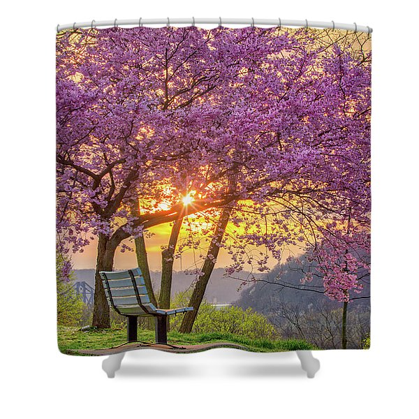 Spring Bench In Beaver 2 Shower Curtain