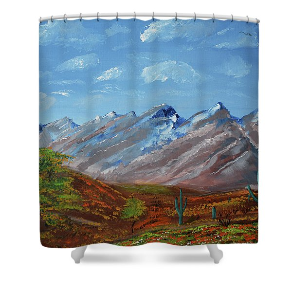 Spring Comes To Southern Arizona Shower Curtain
