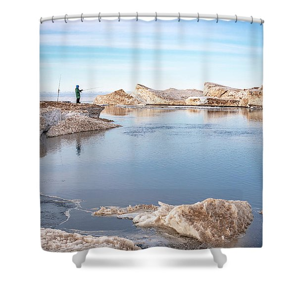 Spring Fishing Shower Curtain