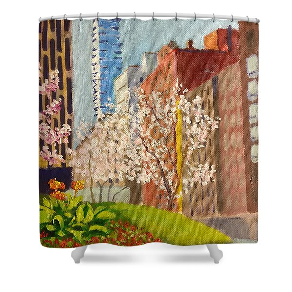 Spring In Worth St Shower Curtain