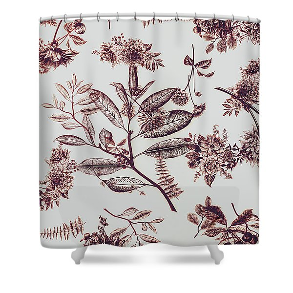 Spring Ink Shower Curtain