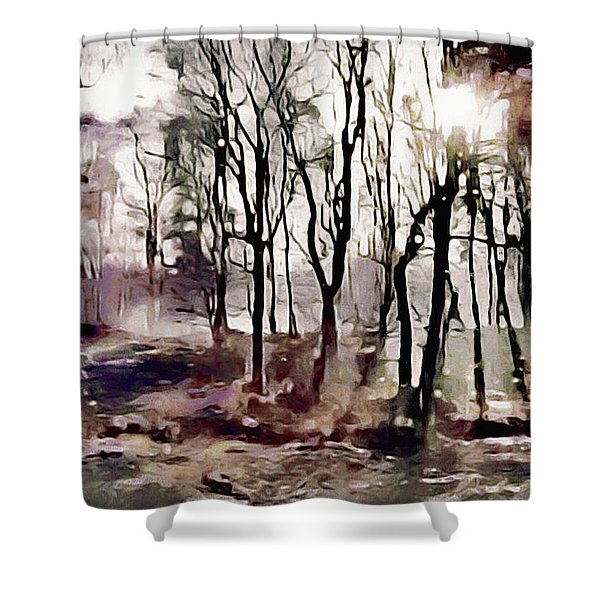 Spring Morning Mist Shower Curtain
