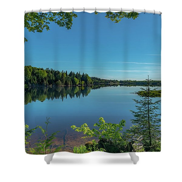 Spring Morning On Grand Sable Lake Shower Curtain