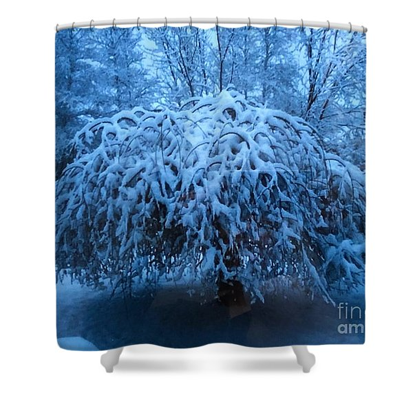 Spring Snow Shower Curtain