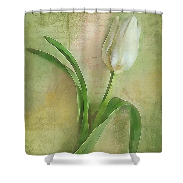 Spring Tulip Montage Shower Curtain