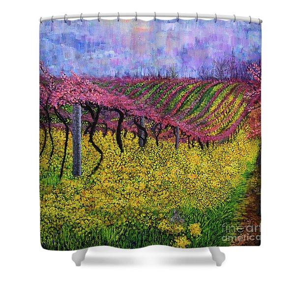 Spring Vineyard Shower Curtain