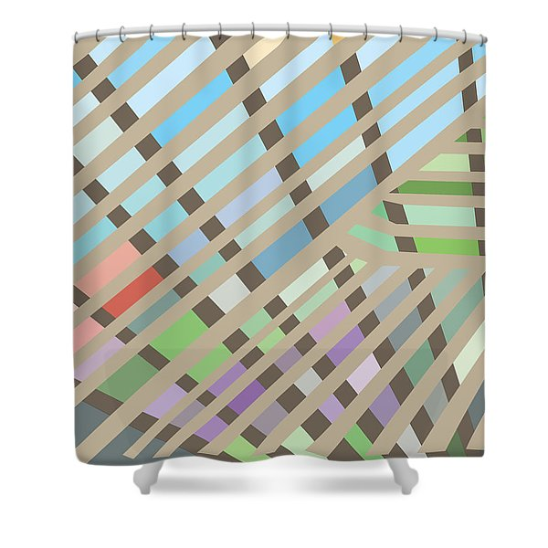 Springpanel Shower Curtain