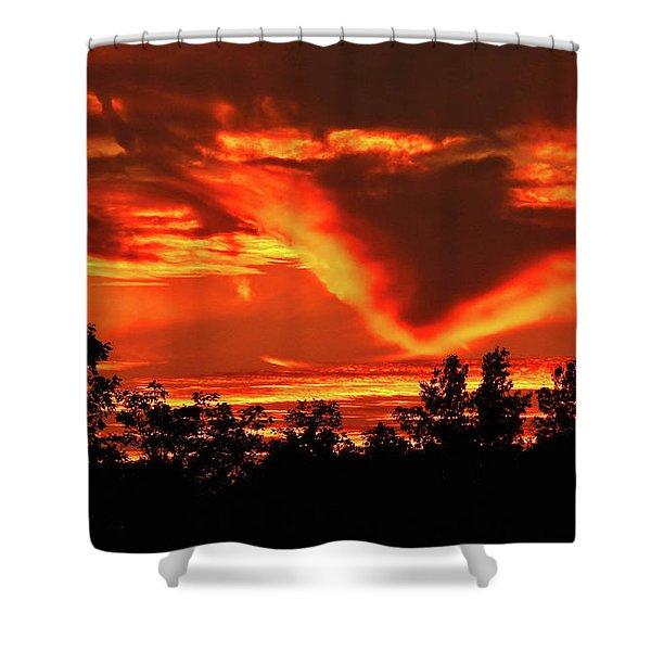 Springport, Michigan Sunset 4289 Shower Curtain