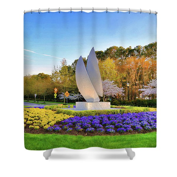 Springtime At Christopher Newport University Shower Curtain