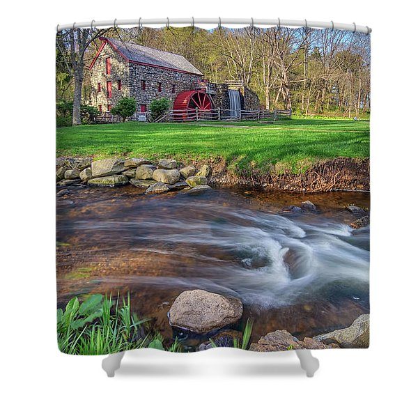 Springtime At The Grist Mill Shower Curtain