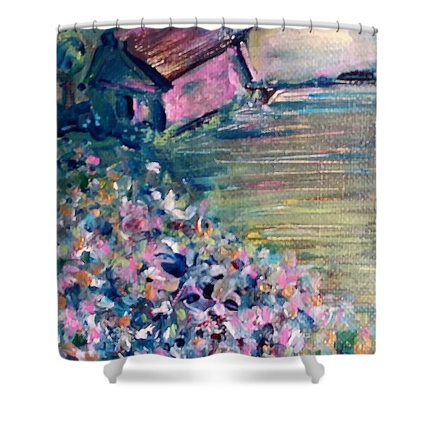 Shower Curtain featuring the painting Springtime by Deborah Nell