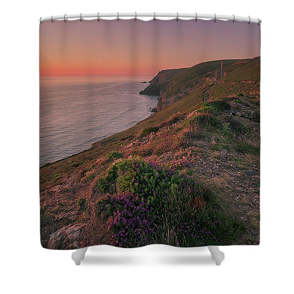 St Agnes Sunset Shower Curtain