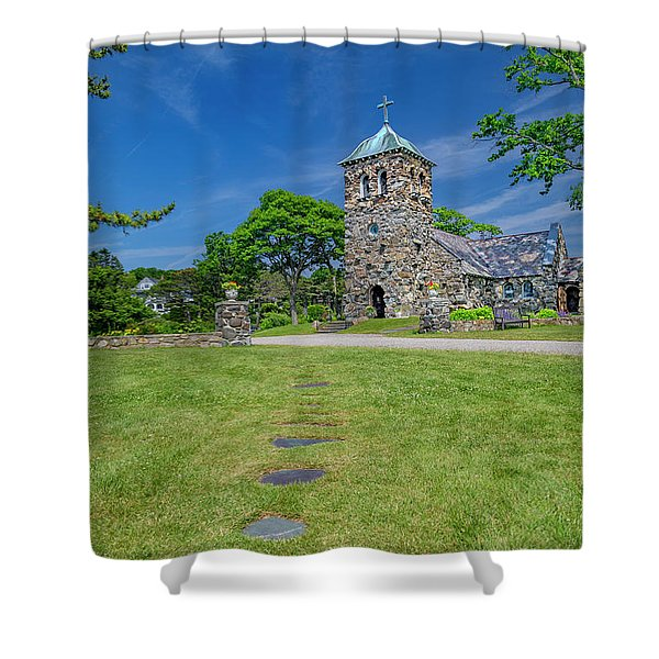 St Ann's Church Peaceful Kennebunkport Maine Shower Curtain