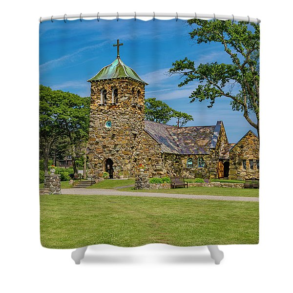 St Ann's Episcopal Church Kennebunkport Maine Shower Curtain