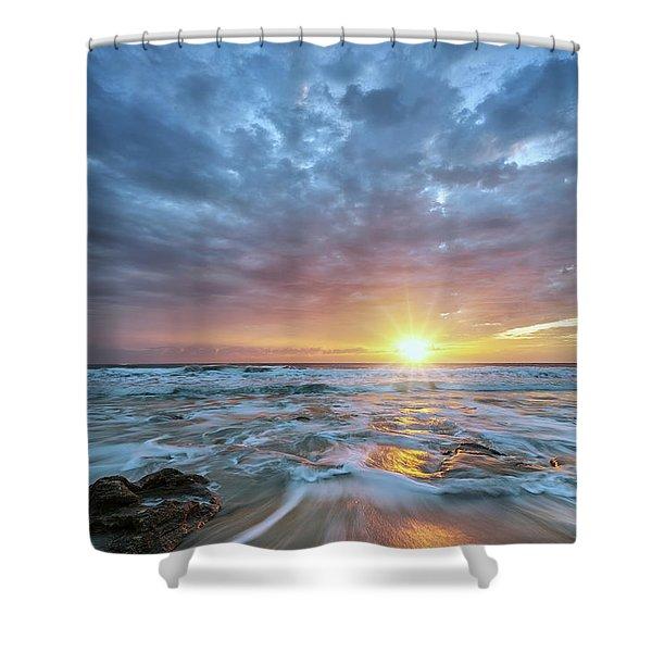 St. Augusting Sunrise  Shower Curtain