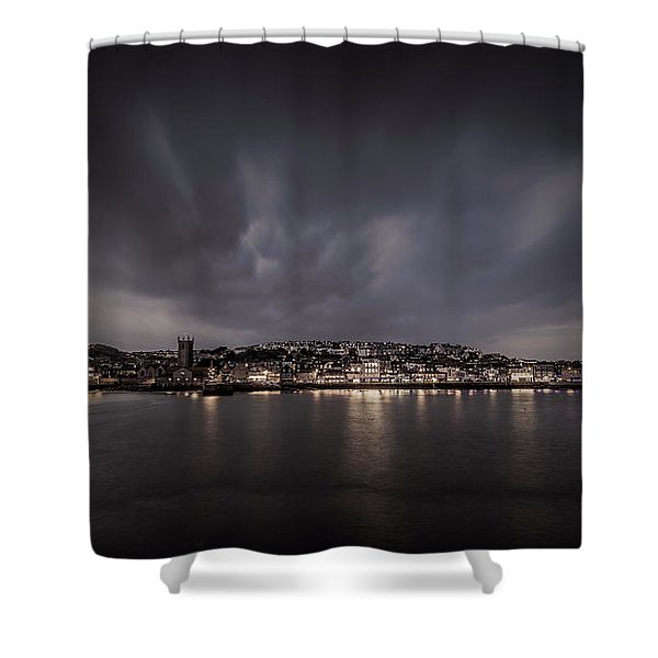 St Ives Cornwall - Dramatic Sky Shower Curtain
