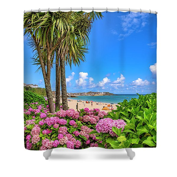 St Ives Cornwall - Summer Time Shower Curtain