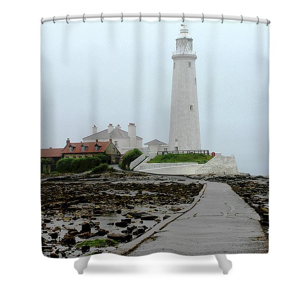 St Mary's Lighthouse Shower Curtain