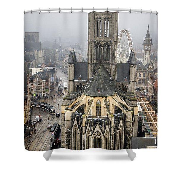 St. Nicholas Church, Ghent. Shower Curtain