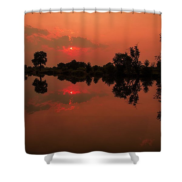 St. Vrain Sunset Shower Curtain