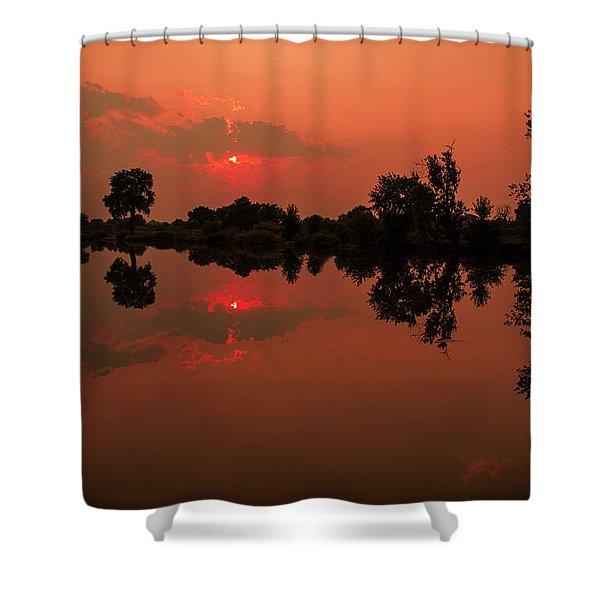 St. Vrain Sunset Shower Curtain