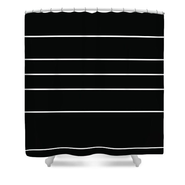 Stacked - Black And White Shower Curtain