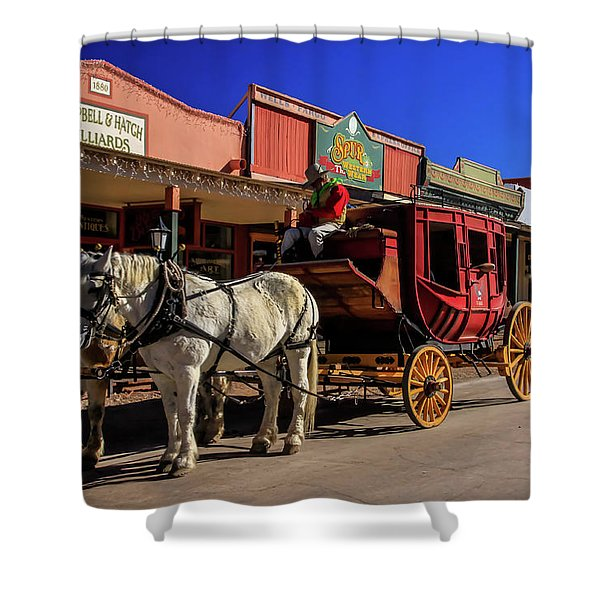 Stagecoach, Tombstone Shower Curtain