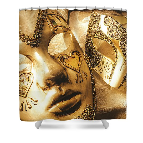 Staged Out Romances Shower Curtain