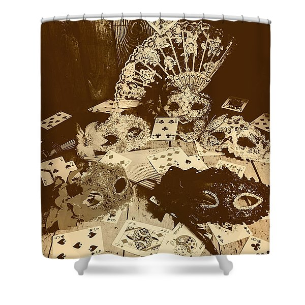 Staged Western Shower Curtain