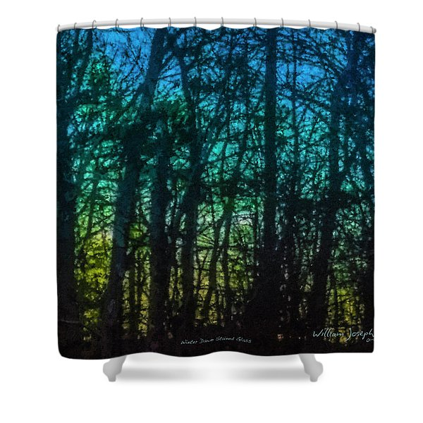 Stained Glass Dawn Shower Curtain
