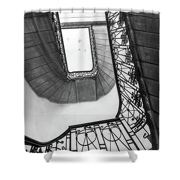 Staircase In Budapest Shower Curtain