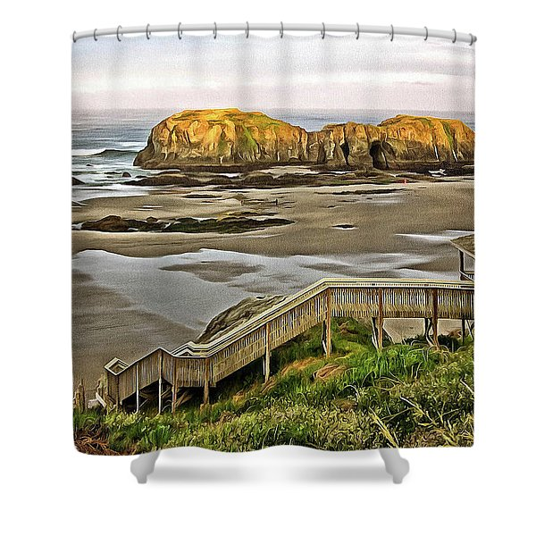 Stairs To The Beach Shower Curtain