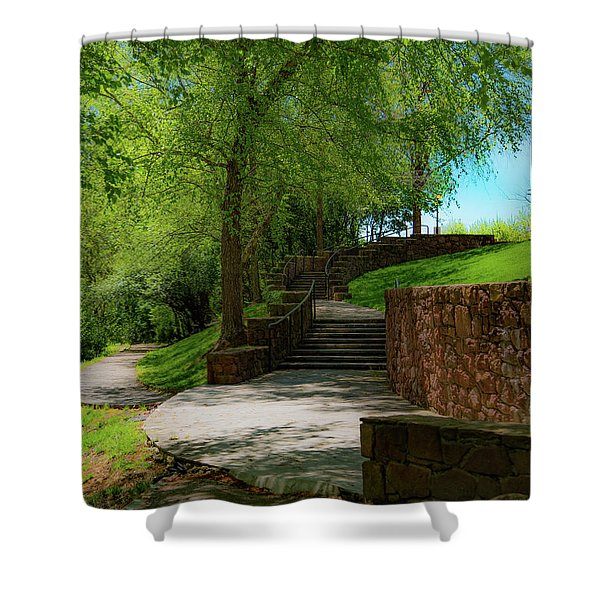 Stairway To Carlyle Shower Curtain
