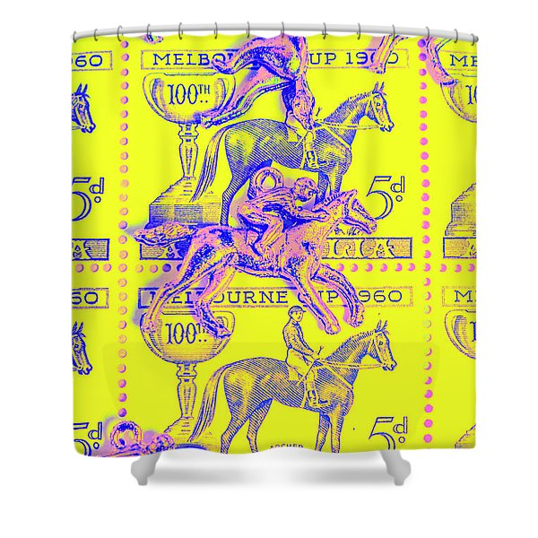 Stamps And Stallions Shower Curtain