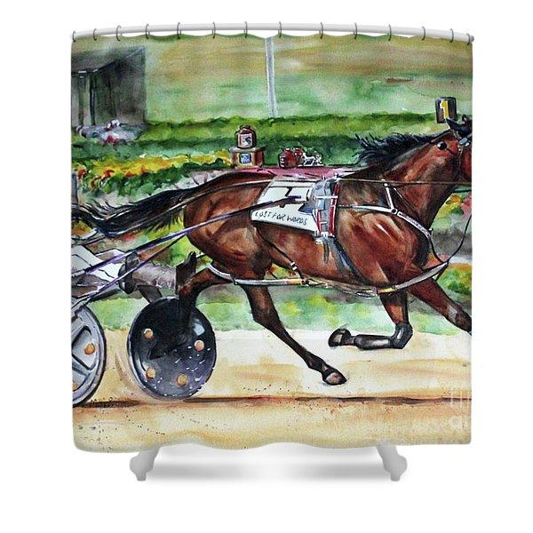 Standardbred Horse Shower Curtain