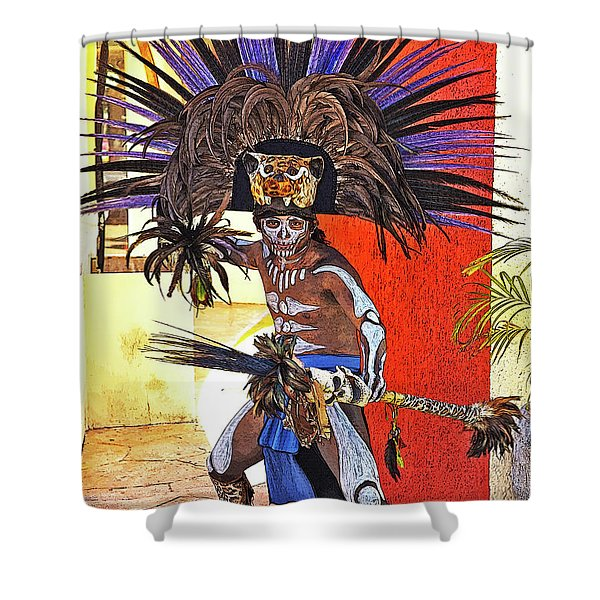 Standing His Ground Shower Curtain
