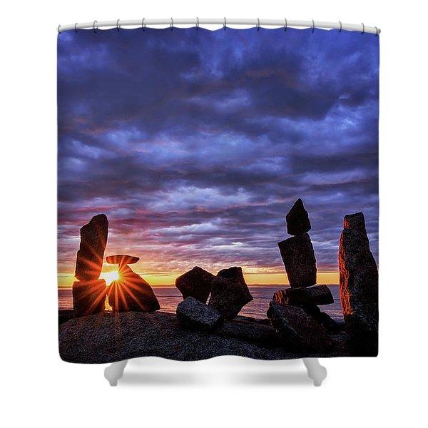 Standing Stone 1 Halibut Pt.  Shower Curtain