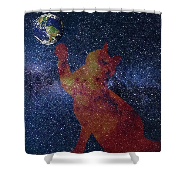 Star Cat Shower Curtain