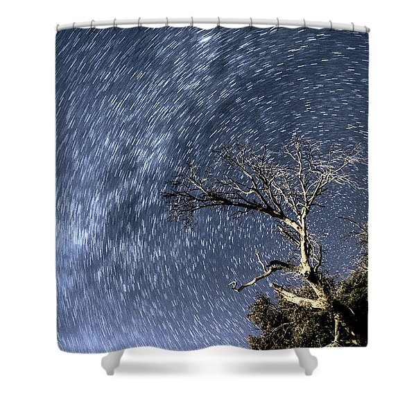 Star Trail Wonder Shower Curtain