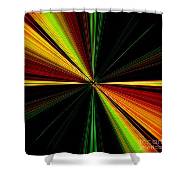 Starburst Light Beams Design - Plb461 Shower Curtain