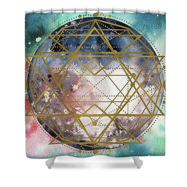 Shower Curtain featuring the digital art Starchild by Bee-Bee Deigner