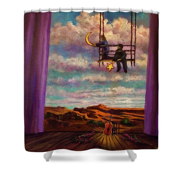 Starry Day Shower Curtain
