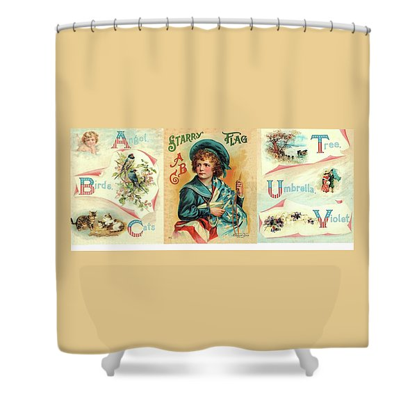 Starry Flagg Wrap A Round Shower Curtain