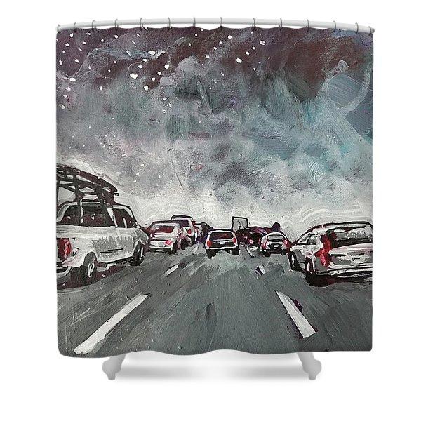 Starry Night Traffic Shower Curtain