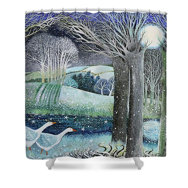 Starry River Shower Curtain